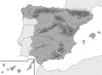 mapa      físico blanco y negro