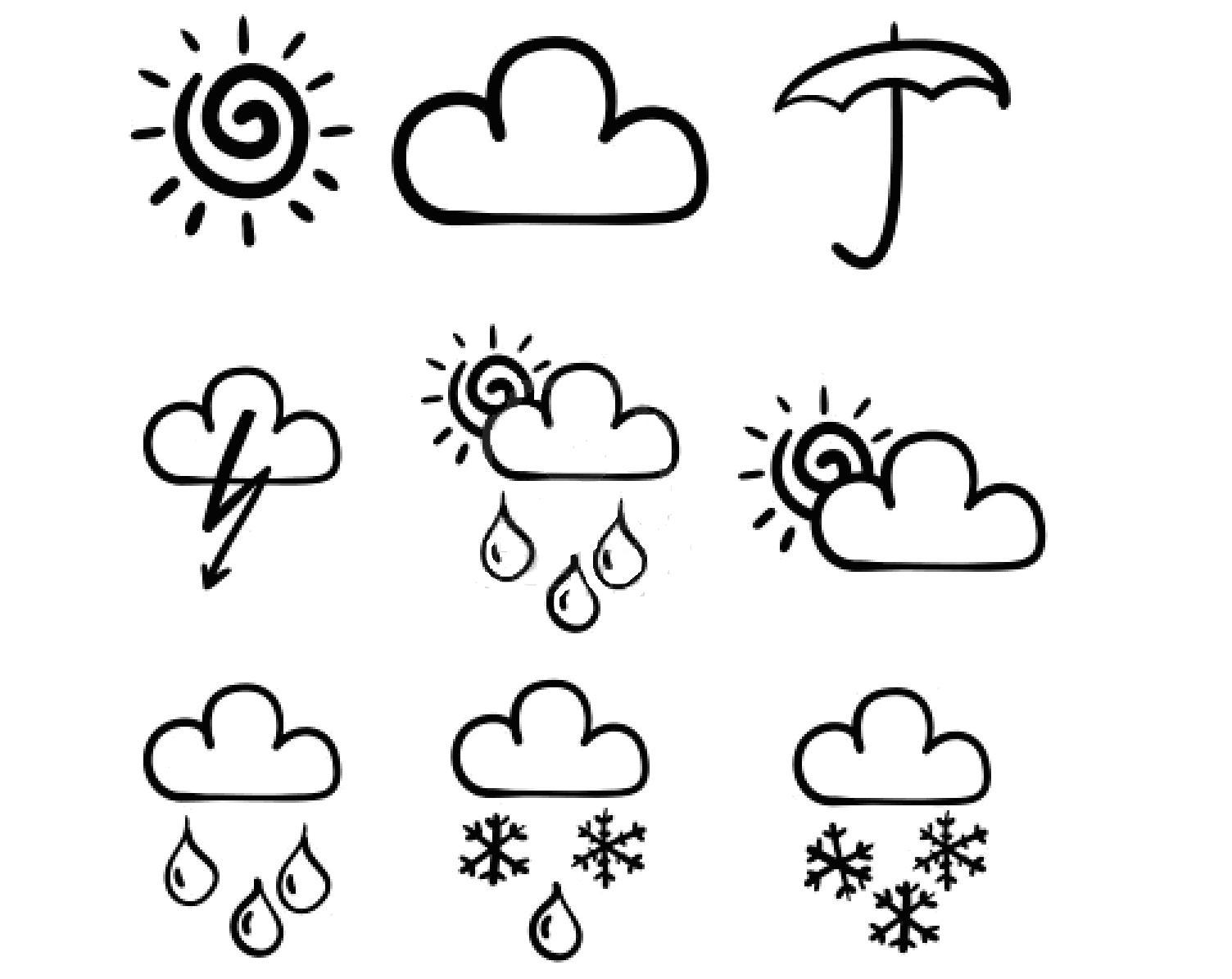 Símbolos Meteorológicos B-N