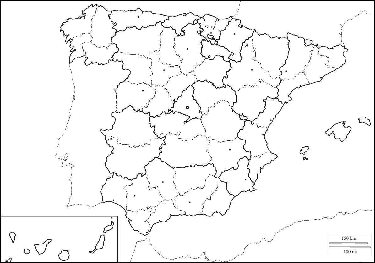 Mapa Politico Espaa Para Imprimir  My blog